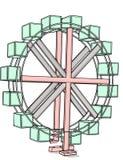 Rueda gigante Imagen de archivo libre de regalías