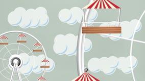 Rueda gigante en un parque de atracciones stock de ilustración