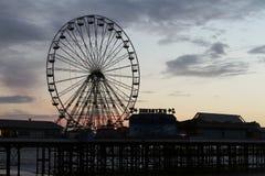 Rueda grande de Blackpool Fotos de archivo libres de regalías