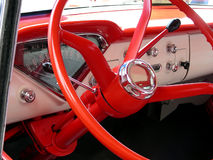 Rueda roja Imágenes de archivo libres de regalías