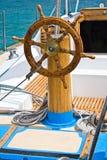 Rueda sterring del barco Foto de archivo libre de regalías