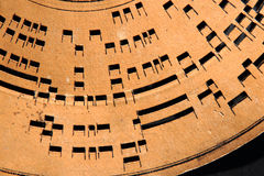 rueda vieja del disco de la música del detalle Imagen de archivo
