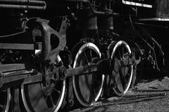 Rueda vieja del tren Fotos de archivo