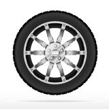 Rueda y neumático de coche stock de ilustración