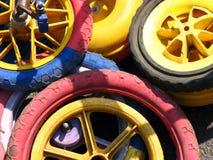 Ruedas coloridas fotografía de archivo libre de regalías
