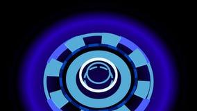 Ruedas de alta tecnología abstractas, ejemplo 3d Foto de archivo libre de regalías