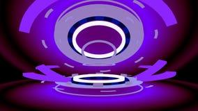 Ruedas de alta tecnología abstractas, ejemplo 3d Foto de archivo