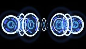 Ruedas de alta tecnología abstractas, ejemplo 3d Fotos de archivo