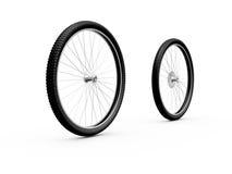 Ruedas de bicicleta Imagen de archivo libre de regalías