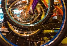 Ruedas de bicicleta fotografía de archivo libre de regalías