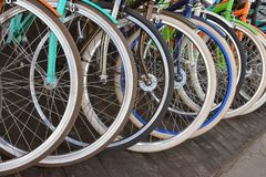 Ruedas de bicicleta fotos de archivo libres de regalías