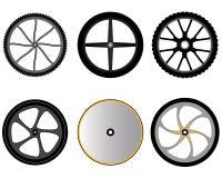 Ruedas de bicicleta sin los rayos ilustración del vector