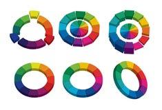ruedas de color 3D ilustración del vector