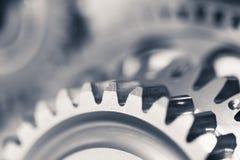 Ruedas de engranaje del motor imagenes de archivo