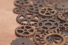 Ruedas de engranajes del metal Imagen de archivo libre de regalías