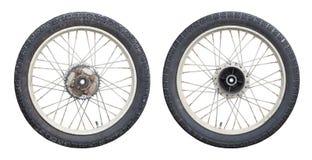 ruedas de la motocicleta fotografía de archivo libre de regalías