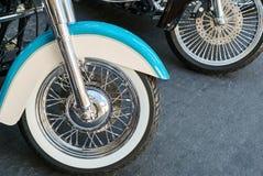 ruedas de la motocicleta fotografía de archivo