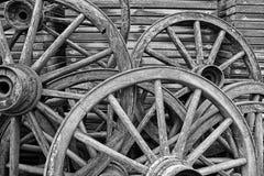Ruedas de madera imágenes de archivo libres de regalías