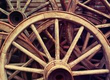 Ruedas de madera imagen de archivo libre de regalías
