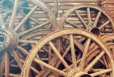 Ruedas de madera fotografía de archivo