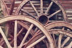Ruedas de madera fotografía de archivo libre de regalías