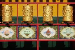 Ruedas de rezo tibetanas Fotos de archivo