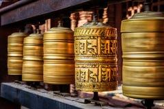 Ruedas de rezo tibetanas Foto de archivo libre de regalías