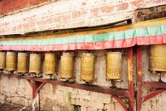 Ruedas de rezo tibetanas budistas Fotografía de archivo libre de regalías