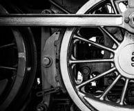 Ruedas de una locomotora de vapor vieja Fotografía de archivo