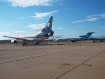 Ruedas del aeroplano grande Fotos de archivo libres de regalías