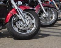 Ruedas del ciclo de motor Fotografía de archivo