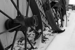 Ruedas del invierno imagenes de archivo