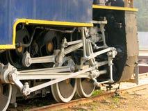 Ruedas del motor del carril Foto de archivo