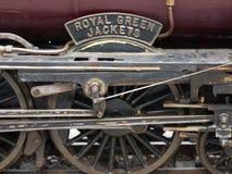 Ruedas del motor locomotor viejo Foto de archivo libre de regalías