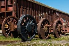 Ruedas del tren Imagen de archivo libre de regalías