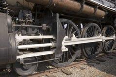 Ruedas del tren del motor de vapor Foto de archivo libre de regalías