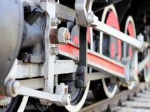Ruedas del tren del vapor Imagen de archivo libre de regalías