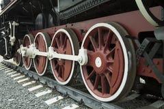 Ruedas del tren retro Fotografía de archivo libre de regalías