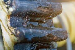 Ruedas dentadas, fondo industrial, mecanismo del cierre de la presa imagen de archivo