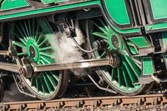 Ruedas locomotoras fotografía de archivo