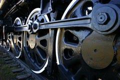 Ruedas locomotoras viejas grandes foto de archivo libre de regalías