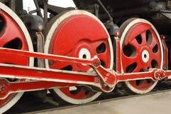 Ruedas locomotoras viejas grandes Fotografía de archivo
