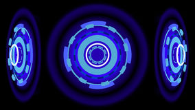 Ruedas que brillan intensamente azules, ejemplo 3d Imágenes de archivo libres de regalías