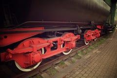 Ruedas viejas del tren del vapor Foto de archivo libre de regalías