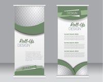 Ruede para arriba la plantilla del soporte de la bandera Fondo abstracto para el diseño, negocio, educación, anuncio Fotos de archivo