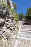Ruedes Escaliers Sainte-Anne, Avignon, Frankrike Arkivbilder