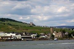 Ruedesheim et Rhin Photos stock
