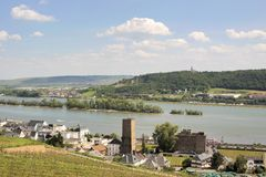 Ruedesheim in the Rheingau Stock Photography
