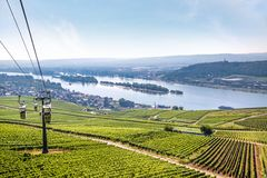 Ruedesheim in the Rheingau Stock Photo