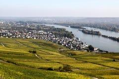 Ruedesheim and Rhine Stock Images